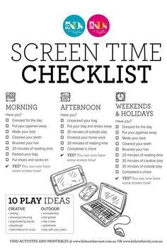 Screen Bucks... kids earn screen time by doing chores