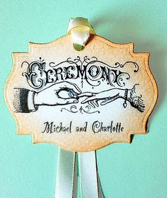 Tags Ceremony Wedding Wishing Tree Vintage by wildabouttags, $3.60