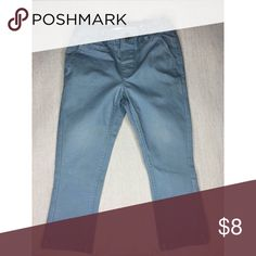 Kids clothing-well taken care of with zero stains 1-2T Chino Pant color is a Slate Blue/Gray H&M Bottoms Casual