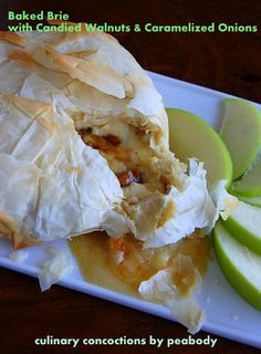 Baked Brie with Candied Walnuts and Caramelized #Onions