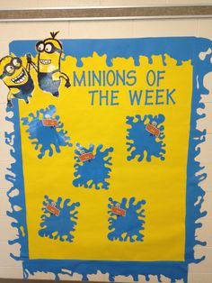 Student of the week-Minion of the week Minion Classroom Theme, Minion Theme, 2nd Grade Classroom, Classroom Design, Classroom Displays, Kindergarten Classroom, School Classroom, Classroom Themes, Classroom Organization