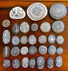 Wauw! Mooi versierde stenen - Tumblr in Illustration
