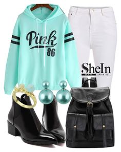 """SheIn"" by deedee-pekarik ❤ liked on Polyvore featuring Sweatshirt, shein and mintsweatshirt"