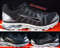 New Nike Air Max 2009 Mens Running Sneaker Size 9.5 Trainer Shoes Black Grey