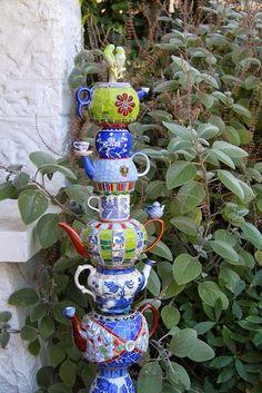 totem jardin   MATIN LUMINEUX: Totems de jardin Plus