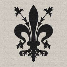 Florence Coat Of Arms Sticker -decal crest fleur de lis French Symbols, Stencils, Embroidery Designs, Templer, Iris Garden, Knights Templar, French Decor, Florence Italy, State Art
