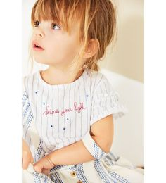ZARA - KIDS - STRIPED AND EMBROIDERED T-SHIRT