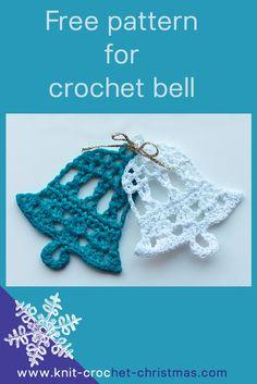 Crochet bell pattern. Download the free written pattern with crochet chart.