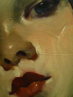 Malcolm Liepke, Portrait in Pigtails (detail)