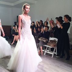 Sparkles, flowers, and and amazing movement at @misshayleypaige tonight! #nybfw #hayleypaigebride
