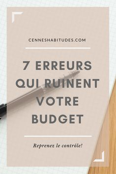 7 erreurs qui ruinent votre budget- o. Organization Bullet Journal, Budget Organization, Faire Son Budget, Budget Planer, Savings Plan, Budgeting Finances, Budgeting Tips, Money Management, Tips