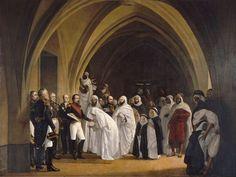 Tissier, Ange, (1814-1876), Abd el Kader and Napoleon III, 1861, Oil