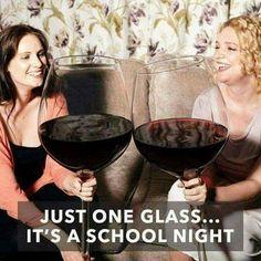 Just 1 glass #WineHumor #WineMemes