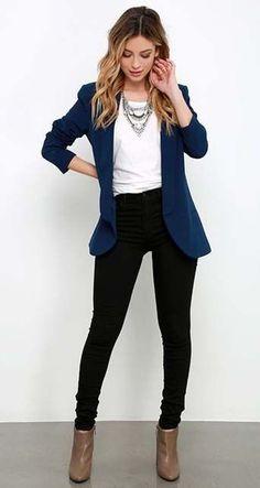 Blue blazer. Yes.