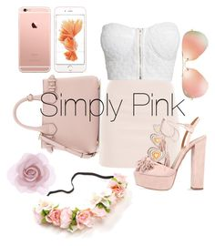 """""""Simply Pink"""" by kimbo20111 ❤ liked on Polyvore featuring Christopher Kane, Burberry, Aquazzura, NLY Trend, Ray-Ban and Accessorize"""