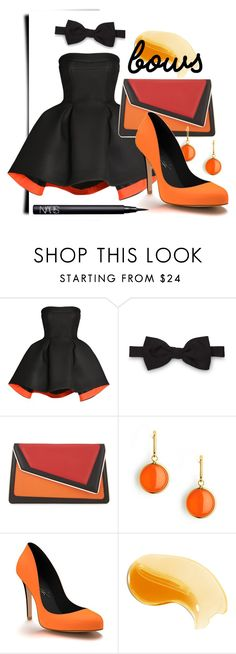 """Autimn Bows"" by katie-hufflepuff ❤ liked on Polyvore featuring Parlor, BONAVITA, âme moi, Syna, Shoes of Prey and NARS Cosmetics"