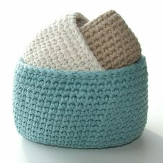 I love storage!! You can never have enough of it. Create yourself something functional and pretty all at the same time. These little bins are great for storing anything and everything...from the nursery to the laundry room! Pattern is written in American Standard crochet terms.