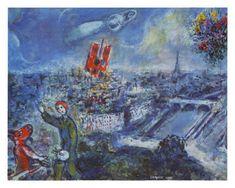 View of Paris Kunstdrucke von Marc Chagall - bei AllPosters.ch