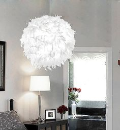 Aliexpress.com : Buy Lamps pendant light bedroom lamp romantic fashion white feather pendant light wedding lights d2033 free shopping from Reliable table lamp suppliers on Angel Tears  lighting Co.,Ltd.. $170.09