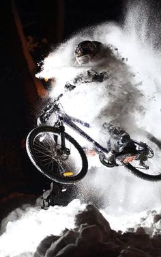 Snow play. Pic from bikengine-com on tumblr. Check us out at http://montereymountainbike.com