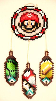 Mario Dream Catcher Perler Beads by ThatsTheBeadsKnees