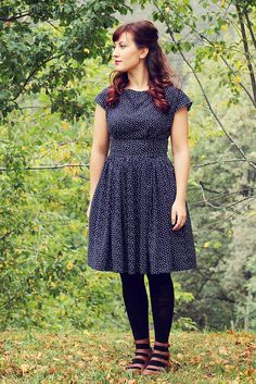 Pattern: Anna dress by By Hand London Size: size US8 for shoulders and bust, graded to a size...