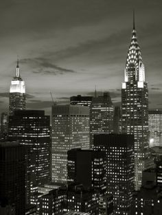 Chrysler Building and Midtown Manhattan Skyline, New York City, USA Photographic Print by Jon Arnold at AllPosters.com