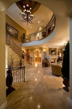 Open living room & stairs