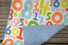 IKEA bed sheet to fab quilt. By stitchindye (flickr).