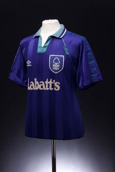 Nottingham Forest Football Shirt away) Nottingham Forest Fc, Football Shirts, Old School, Polo Ralph Lauren, Scrapbooks, Nostalgia, Mens Tops, Football Jerseys, Scrapbooking