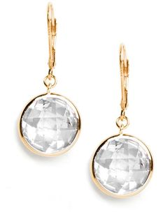 Gold bubble drop earrings