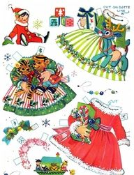 Southern OOAKS: Christmas Vintage Paper Dolls