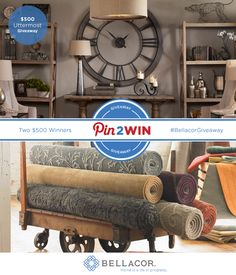 Enter to win 1 of 2 $500 Uttermost Shopping Sprees at Bellacor - http://www.bellacor.com/uttermost.htm?partid=social_pinterest_ga#Giveaway Uttermost offers one of the most broad and most current product lines in the world. Our line includes accent furniture, decorative mirrors, alternative wall, art, clocks, lamps, lighting fixtures, botanicals, and accessories.  #BellacorGiveaway