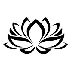 Lotus Flower Stencil Template - Reusable Stencil with Multiple Sizes Available Yoga Tattoos, Body Art Tattoos, Tribal Tattoos, Small Tattoos, Tatoos, Crazy Tattoos, Lotusblume Tattoo, Lotus Tattoo, Future Tattoos