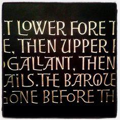 Letter-cutter Gary Breeze's hand carved font via @billylloydesign