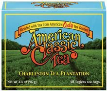 American Classic Tea. Charleston Tea Plantation.