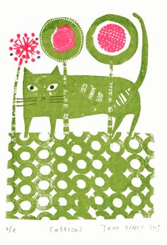 Floral Feline (by Jane Ormes)
