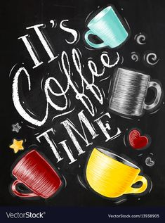 coffee art Poster coffee time chalk Royalty Free V - coffee Coffee Bar Home, Coffee Corner, Coffee Cafe, Coffee Shop, Coffee Barista, Coffee Menu, Coffee Creamer, Coffee Chalkboard, Chalkboard Art