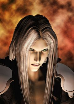 Sephiroth at Nibelheim. That evil smile he has before he walks into the flames. *shudders*