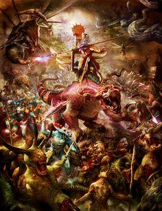 SERAPHONS VS NURGLE #ageofsigmar #warhammer #art #fantasy #aos #gamesworkshop #Seraphon