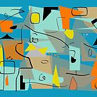 Mid-Century Modern Abstract Art  by Gail Gabel, LLC