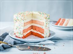 Ombre Cake Ombre Cake, Vanille Paste, Vanilla Cake, Cupcakes, Desserts, Birthday, Sweet, Food, Food Coloring