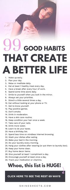 99 Good Habits For a Better Life + FREE Printable Checklist