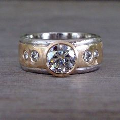 Wide Band Diamond Rings, Vintage Diamond Rings, Diamond Jewelry, Wedding Ring Necklaces, Forever Brilliant Moissanite, Beautiful Engagement Rings, Star Necklace, Ring Designs, Rings For Men