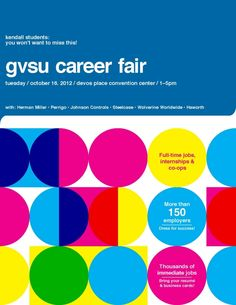 GVSU Career Fair 2012 | Kendall College of Art and Design of Ferris State University
