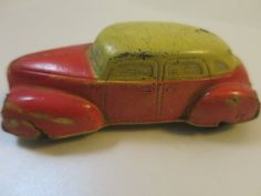 Sun Rubber Toy Car 1930's Limo Sedan by BonniesVintageAttic