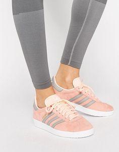hot sale online f7a77 d6991 Adidas  adidas Originals Haze Coral Gazelle Sneakers Adidas Originals  Gazelle, Nmd Sneakers, Asos