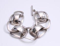 Designed by Ibe Dahlquist for Georg jensen Denmark c.1960 Sterling silver Design no 192 73 grams 20cm long 3cm wide