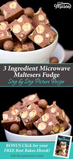 This CRAZY easy Maltesers Microwave Fudge recipe is made in minutes then the fridge does all the hard work! Fudge Recipes, Chocolate Recipes, Baking Recipes, Cookie Recipes, Dessert Recipes, Malteser Recipes, Candy Recipes, Kitchen Recipes, Cheesecake Recipes