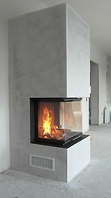 Panorama fireplace Brunner built-in fireplace insert – furnishing id… - Raumteiler Stove Fireplace, Fireplace Wall, Fireplace Design, Interior Exterior, Interior Design, Built In Braai, Living Room Decor Fireplace, Fireplace Inserts, House Layouts